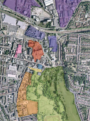 Dartford Town Centre Development Map